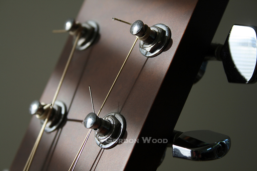 Guitar Machine Heads Closeup