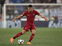 Calcio, Serie A: S.S. Lazio - A.S. Roma, stadio Olimpico, Roma, 15 aprile 2018. <br /> Roma's Bruno Peres in action during the Italian Serie A football match between S.S. Lazio and A.S. Roma at Rome's Olympic stadium, Rome on April 15, 2018.<br /> UPDATE IMAGES PRESS/Isabella Bonotto