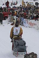 Matt Calore Willow restart Iditarod 2008.