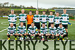 The Killarney Celtic team that played Broadford in the FAI cup in Killarney on Sunday front row l-r: Joe Hurley, Stephen Hayes, Peter McCarthy, Brendan Falvey, Fergal O'Donoghue, Conor Randles. Back row: Brian Spillane, David Hayes, Roy Kelleher, Conor Farrell, Jamie Spillane, Cathal O'Shea, Lee Callaghan and David Carroll