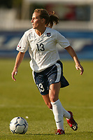 Kristine Lilly of the USWNT. The USWNT defeated Russia 5-1 on  September 29, at Mitchel Athletic Complex, Uniondale, NY.