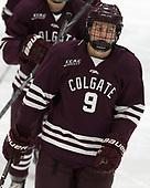 Bobby McMann (Colgate - 9) - The visiting Colgate University Raiders shut out the Harvard University Crimson for a 2-0 win on Saturday, January 27, 2018, at Bright-Landry Hockey Center in Boston, Massachusetts.