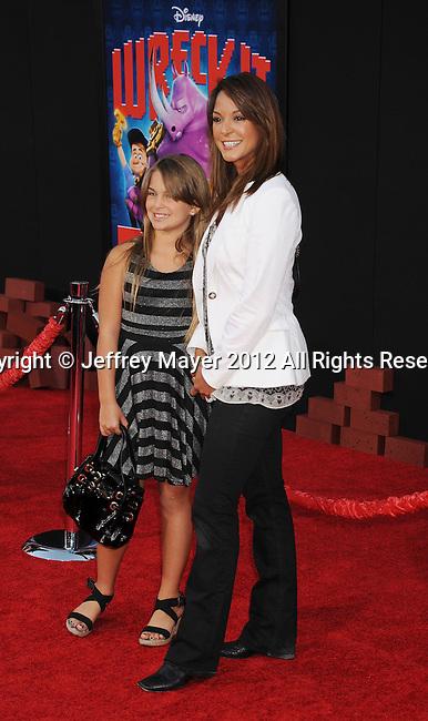 HOLLYWOOD, CA - OCTOBER 29: Eva La Rue and Kaya  arrive at the Los Angeles premiere of 'Wreck-It Ralph' at the El Capitan Theatre on October 29, 2012 in Hollywood, California.