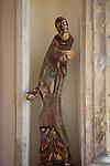 Church of Saint Andrew, Wissett, Suffolk, England, UK artwork sculpture of St Andrew by Peter Ball 2006