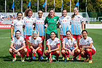 Kansas City, MO - Saturday September 9, 2017: Alyssa Naeher, Samantha Johnson, Kathleen Naughton, Arin Gilliland, Casey Short, Julie Ertz, Sofia Huerta, Danielle Colaprico, Christen Press, Morgan Brian, Yuki Nagasato during a regular season National Women's Soccer League (NWSL) match between FC Kansas City and the Chicago Red Stars at Children's Mercy Victory Field.