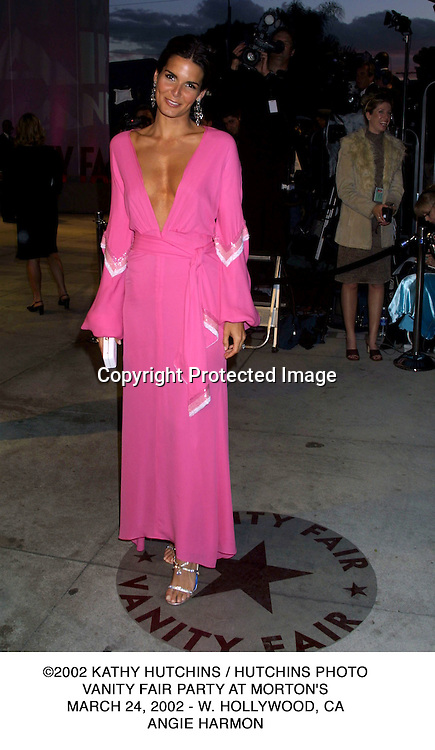 ©2002 KATHY HUTCHINS / HUTCHINS PHOTO.VANITY FAIR PARTY AT MORTON'S.MARCH 24, 2002 - W. HOLLYWOOD, CA.ANGIE HARMON