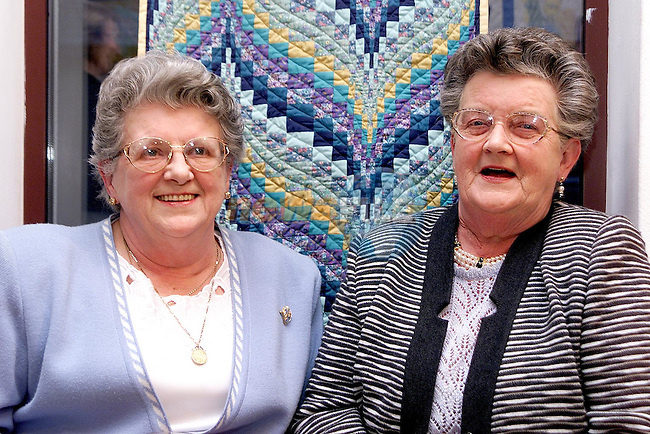 Betty Duggan, William Street and Patricia Kierans, trinity Gardens at the Quilters Exhibition in the Droichead Arts Centre..Picture Paul Mohan Newsfile