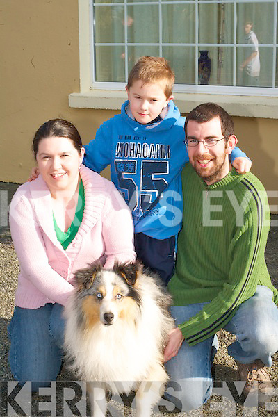 Lena, Danny and Brian Kelleher Firies with their dog Shadow at the Dog show in Currow on Sunday   .   Copyright Kerry's Eye 2008