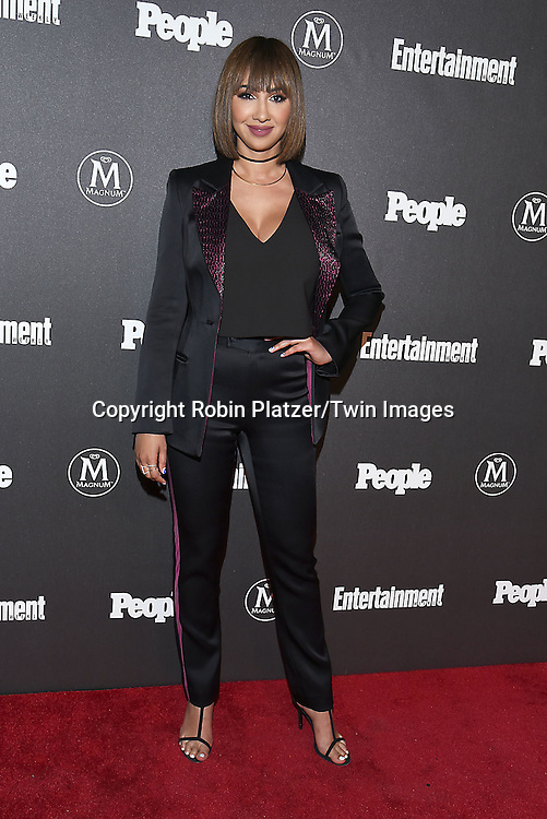 Jackie Cruz attends the Entertainment Weekly &amp; PEOPLE Magazine New York Upfronts Celebration on May 16, 2016 at Cedar Lake in New York, New York, USA.<br /> <br /> photo by Robin Platzer/Twin Images<br />  <br /> phone number 212-935-0770