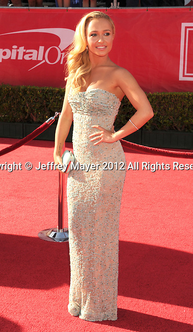 LOS ANGELES, CA - JULY 11: Hayden Panettiere arrives at the 2012 ESPY Awards at Nokia Theatre L.A. Live on July 11, 2012 in Los Angeles, California.