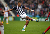 30th September 2017, The Hawthorns, West Bromwich, England; EPL Premier League football, West Bromwich Albion versus Watford; José Salomón Rondón of West Bromwich Albion plays the cross-field pass