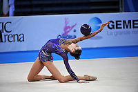 Alina Maksymenko of Ukraine performs with ball at 2010 Pesaro World Cup on August 28, 2010 at Pesaro, Italy.  Photo by Tom Theobald.