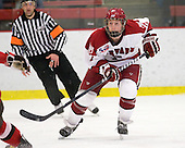 Danny Fick (Harvard - 7) - The Harvard University Crimson defeated the St. Lawrence University Saints 4-3 on senior night Saturday, February 26, 2011, at Bright Hockey Center in Cambridge, Massachusetts.