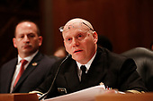 Commander Jonathan White, PH.D., USPH, Deputy Director for Children's Programs, Office of Emergency Management and Medical Operations, Office of Assistant Secretary for Preparedness and Response, US Department of Health and Human Services, testifies before the US Senate Committee on Homeland Security and Government Affairs on April 9, 2019.<br /> Credit: Stefani Reynolds / CNP
