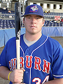August 28, 2004:  First baseman Joey Metropoulos of the Auburn Doubledays, Short-Season Single-A affiliate of the Toronto Blue Jays, during a game at Dwyer Stadium in Batavia, NY.  Photo by:  Mike Janes/Four Seam Images