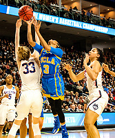 3/25/17 Bridgeport, Ct. NCAA sweet sixteen has UCONN's Katie Lou Samuelson block a shot from the Bruins Canada in their 87-71 route.  Monday UCONN faces the Oregon Ducks in the quarters.