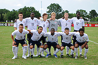 USA Starting XI. The US U-20 Men's National Team defeated the U-20 Men's National Team of Costa Rica 2-1 in an international friendly during day four of the US Soccer Development Academy  Spring Showcase in Sarasota, FL, on May 25, 2009.