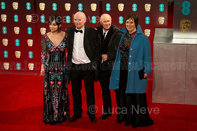 (From L to R) Hayley Squires, Dave Johns, Paul Laverty, Rebecca O' Brien (Movie: I, Daniel Blake).   <br />
