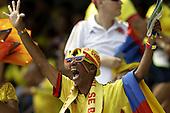 Hinchas de Colombia durante el en partido de eliminatorias para el Mundial de F&uacute;tbol 2018 contra Ecuador en el Estadio Metropolitano Roberto Melendez de Barranquilla el 29 de marzo de 2016.<br /> <br /> Foto: Archivolatino<br /> <br /> COPYRIGHT: Archivolatino<br /> Prohibido su uso sin autorizaci&oacute;n.