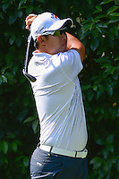 Hideto Tanihara (JPN) watches his tee shot on 2 during round 1 of the World Golf Championships, Mexico, Club De Golf Chapultepec, Mexico City, Mexico. 3/2/2017.<br /> Picture: Golffile | Ken Murray<br /> <br /> <br /> All photo usage must carry mandatory copyright credit (&copy; Golffile | Ken Murray)