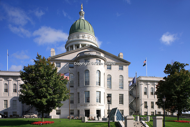 View of the Maine State House, Augusta, Maine, USA