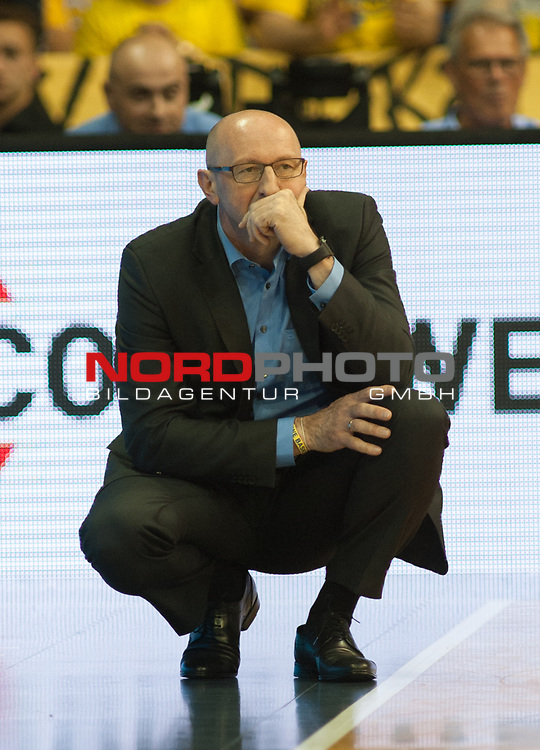 10.05.2019, EWE Arena, Oldenburg, GER, easy Credit-BBL, EWE Baskets Oldenburg vs Mitteldeutscher BC, im Bild<br /> Mladen DRIJENCIC (EWE Baskets Oldenburg #Trainer #Coach )<br /> <br /> Foto © nordphoto / Rojahn