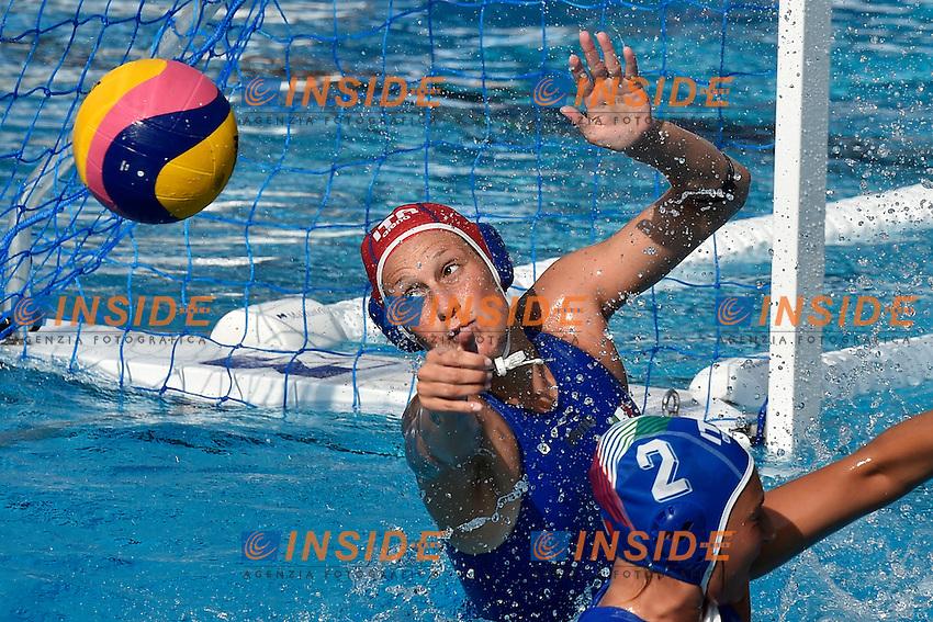 GORLERO Giulia (GK) Italia <br /> Italy - Russia / Italia - Russia <br /> LEN European Water Polo Championships 2014<br /> Alfred Hajos Swimming Complex<br /> Margitsziget - Margaret Island<br /> Day05 Women - July 18 <br /> Photo A.Staccioli/Insidefoto/