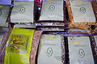Dry food produced in Navdanya for sale in packets in Navdanya, Dehradun, Uttarakhand, India, on 6th September 2009...Dr. Vandana Shiva, the founder of Navdanya Foundation and Bijavidyapeeth, is a physicist turned environmentalist who campaigns against genetically modified food and teaches farmers to rely on indigenous farming methods.. .Photo by Suzanne Lee / For The National