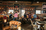 USA, Nevada, Wells, the saloon located inside Mustang Monument, A sustainable luxury eco friendly resort and preserve for wild horses, Saving America's Mustangs Foundation