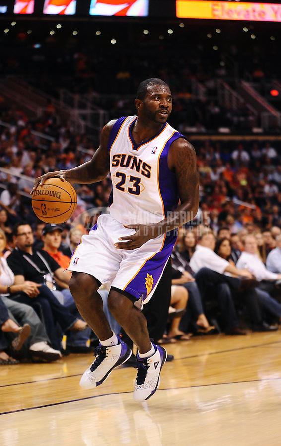 Oct. 12, 2010; Phoenix, AZ, USA; Phoenix Suns guard (23) Jason Richardson against the Utah Jazz during a preseason game at the US Airways Center. Mandatory Credit: Mark J. Rebilas-
