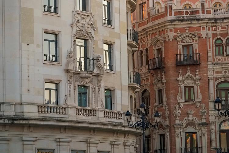 Contrasting building architecture- Sevilla