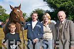 HORSE SENSE: Ryan OConnor, Mickey Keane, Josephine Costello and John OSullivan,.Ballybunion, with their horse Shannon Breeze at Castleisland Races last Sunday.