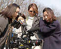 Shiho Yano, Feb 4, 2016 : Japanese model Shiho Yano (2nd R) looks a video filmed during a photo shoot for a South Korean brand 'BE_GE' in Gwangju, southeast of Seoul, South Korea. (Photo by Lee Jae-Won/AFLO) (SOUTH KOREA)
