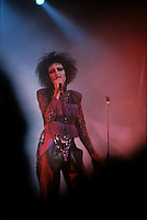 File Photo -  Siouxie and the Banshes live at St-Denis Theater in Montreal, May 19, 1986.<br /> <br /> photo  : Harold Beaulieu<br />  -  Agence Quebec Presse