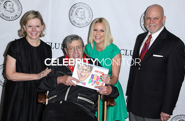 NEW YORK CITY, NY, USA - JUNE 05: Terre Hamlisch, Jerry Lewis, Carrie Keagan, Ron Raines at the Friars Club Celebrates Jerry Lewis And 50th Anniversary Of 'The Nutty Professor' held at New York Friars Club on June 5, 2014 in New York City, New York, United States. (Photo by Jeffery Duran/Celebrity Monitor)