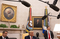 United States President Donald J. Trump, right, and Prime Minister Kyriakos Mitsotakis of Greece, left, meet in the Oval Office of the White House in Washington, D.C. on Tuesday, January 7, 2020.     <br /> Credit: Tasos Katopodis / Pool via CNP/AdMedia
