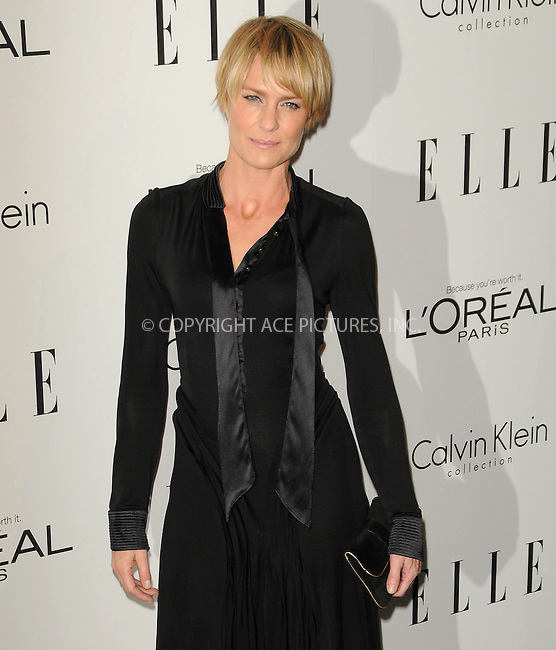 WWW.ACEPIXS.COM . . . . .  ....October 17 2011, LA....Robin Wright arriving at ELLE's 18th Annual Women in Hollywood Tribute at the Four Seasons Hotel on October 17, 2011 in Los Angeles, California. ....Please byline: PETER WEST - ACE PICTURES.... *** ***..Ace Pictures, Inc:  ..Philip Vaughan (212) 243-8787 or (646) 679 0430..e-mail: info@acepixs.com..web: http://www.acepixs.com