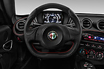 Car pictures of steering wheel view of a 2017 Alfaromeo 4C - 2 Door Coupe Steering Wheel