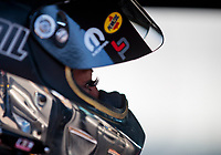 Nov 1, 2019; Las Vegas, NV, USA; Detailed view of the eyelashes of NHRA top fuel driver Leah Pritchett during qualifying for the Dodge Nationals at The Strip at Las Vegas Motor Speedway. Mandatory Credit: Mark J. Rebilas-USA TODAY Sports
