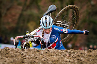 Picture by Alex Whitehead/SWpix.com - 03/02/2018 - Cycling - 2018 UCI Cyclo-Cross World Championships - Valkenburg, The Netherlands - Great Britain's Evie Richards on her way to winning Gold in the Women's U23 race.