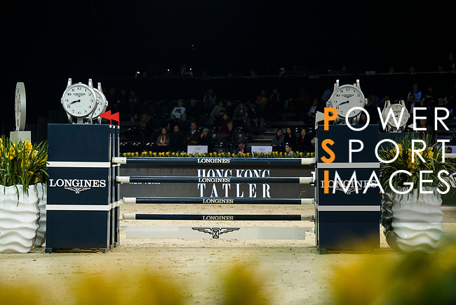 Robert Smith of Great Britain riding Cimano E competes in the Longines Speed Challenge during the Longines Masters of Hong Kong at AsiaWorld-Expo on 10 February 2018, in Hong Kong, Hong Kong. Photo by Diego Gonzalez / Power Sport Images
