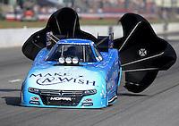 May 16, 2015; Commerce, GA, USA; NHRA funny car driver Tommy Johnson Jr during qualifying for the Southern Nationals at Atlanta Dragway. Mandatory Credit: Mark J. Rebilas-USA TODAY Sports