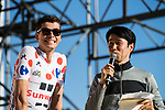 Polka Dot Jersey Warren Barguil (FRA) Team Sunweb introduced to the crowd before the Tour de France Saitama Crit&eacute;rium 2017 held around the streets os Saitama, Japan. 3rd November 2017.<br /> Picture: ASO/Pauline Ballet | Cyclefile<br /> <br /> <br /> All photos usage must carry mandatory copyright credit (&copy; Cyclefile | ASO/Pauline Ballet)