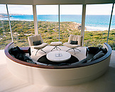AUSTRALIA, Kangaroo Island, interior of empty living room in the Southern Ocean Lodge hotel and spa