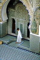 Courtyard, Mosquee Karaouiyne, Medina (Fes el Bali), Fes, Morocco