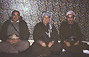 Iran  1980 <br /> After the beginning of war between Iraq and Iran, from left to right, Azad Berwari, Ali Abdullah and Aziz Akrawi in the politburo in Rajan  <br /> Iran 1980 <br /> Debut de la guerre entre l'Iran et l'Irak, de gauche a droitet, Azad Berwari, Ali Abdalla et Aziz Akrawi dans le politburo de Rajan
