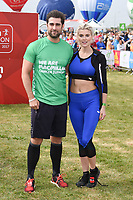 Matt Johnson and Ashley James<br /> at the start of the 2017 London Marathon on Blackheath Common, London. <br /> <br /> <br /> ©Ash Knotek  D3253  23/04/2017