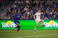 Orlando, FL - Saturday March 24, 2018: Utah Royals forward Kelley O'Hara (5) plays away from Orlando Pride forward Sydney Leroux (2)  during a regular season National Women's Soccer League (NWSL) match between the Orlando Pride and the Utah Royals FC at Orlando City Stadium. The game ended in a 1-1 draw.