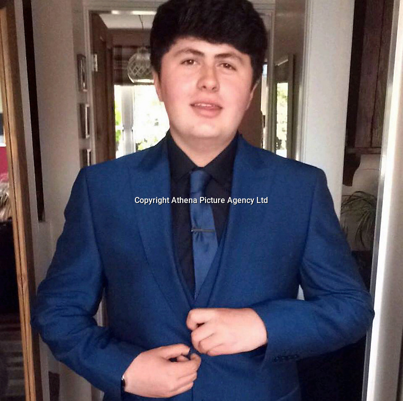 Pictured: Morgan Phillip Miller-Smith<br /> Re: A teenager who died after taking a suspected drugs overdose at a Halloween rave in north Wales has been named as Morgan Phillip Miller-Smith.<br /> 16-year-old Miller-Smith died in the early hours of Sunday morning after falling ill at an event at Gwytherin, near Abergele.<br /> North Wales Police believe he may have taken a pink ecstasy-type tablet with a Rolls Royce-type logo on one side and have urged anyone who took drugs at the event to go to hospital if they feel unwell.