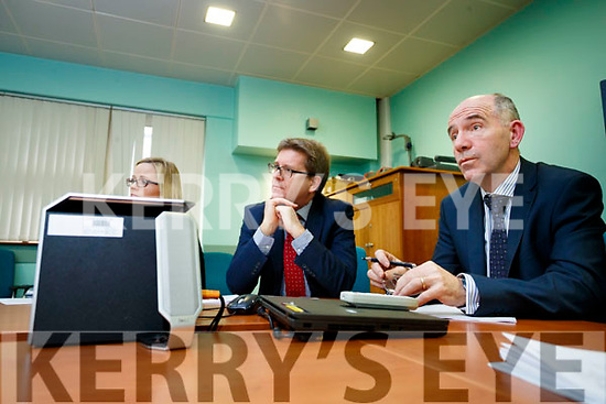 Breda O'Riordan (Business Manager Chief Operations Officer South/South West Hospital Group), Gerard O'Callaghan (Chief Operations South/SouthWest Hospital Group,), Fearghal Grimes, (General Manager University Hospital Kerry) pictured on Monday morning last.